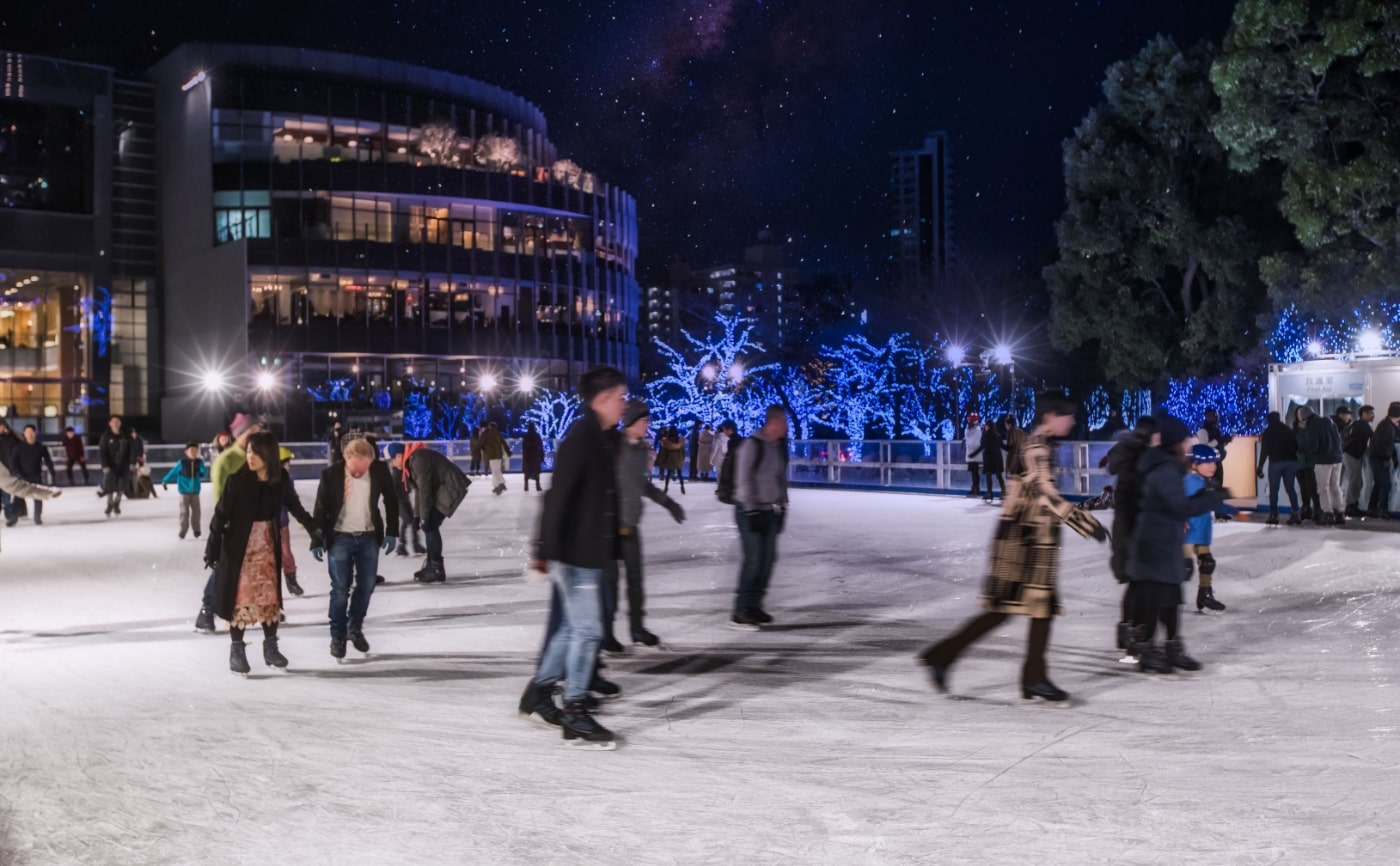 midtown christmas ice rink metropolis magazine japan