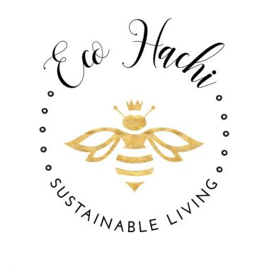 Logo with a stylized bee