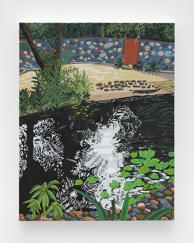 Hilary Pecis, Gharial Pond, 2020, acrylic on canvas, 71.1 x 55.9 cm
