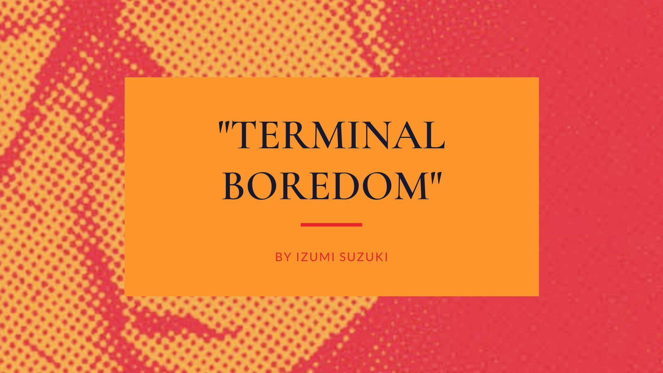 "science fiction polly barton translation japanese novels to read 2021 ""Terminal Boredom"" by Izumi Suzuki"